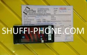 Nokia X6-00 touchscreen macet dan tidak baca kartu sim atas nama Bapak Sal