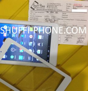 Advan Tab touchscreen macet atas nama Bapak Adek