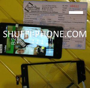 Evercoss a66a touchscreen pecah atas nama Bapak Fajar