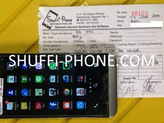 Blackberry z30 Di charge tidak nambah (lambang charge) atas nama Bapak Bayu