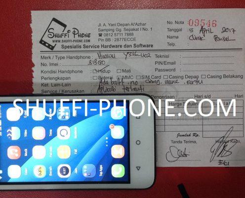 Huawei y336-u02 Aplikasi terhenti atas nama Bapak Clinik