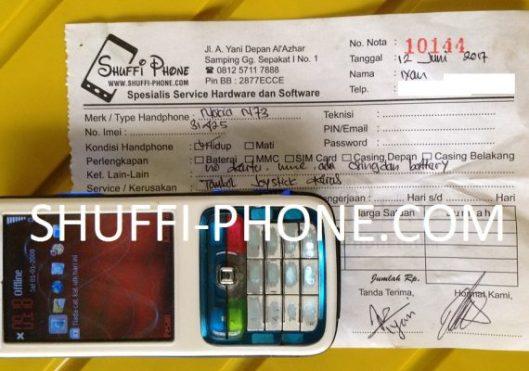 Nokia n73 Tombol joystick keras atas nama Bapak Iyan