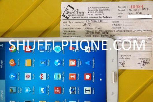 Samsung t311 Tidak bisa di charge atas nama Ibu Srik