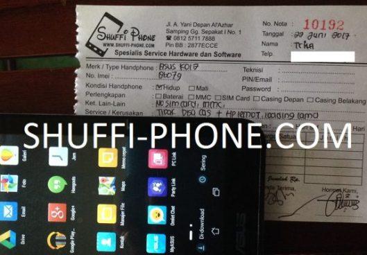 Asus Fonepad 7 (K012) Tidak bisa di charger atas nama Ibu Trila