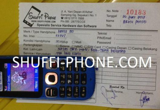 Nokia 100 Tidak bisa baca kartu sim atas nama Bapak Arhu P